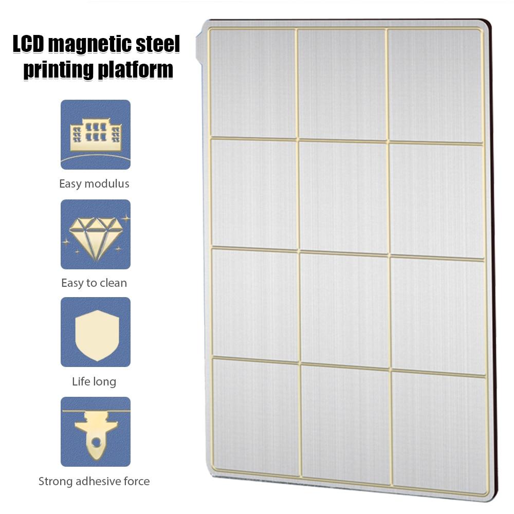 لوح فولاذي مغناطيسي للربيع LCD مرن مضاد للصدأ مضاد للتآكل لوح فولاذي نابض مع مغناطيس مطاطي ملحقات طابعة ثلاثية الأبعاد