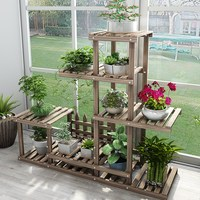 Best Solid wood Potted Plant Stand Flower Pot Holder Multilayer  Indoor Outdoor Gifts & Decor Storage Shelves