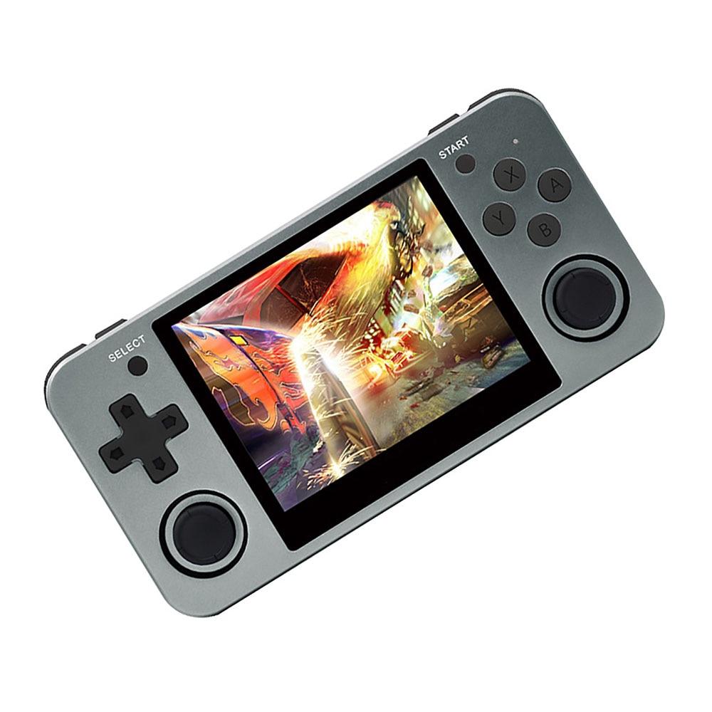 Consola de videojuegos portátil Retro de mano Mini pantalla IPS de 3,5 pulgadas RG350M máquina de juego clásica 16GB Gamepad de carcasa de aluminio