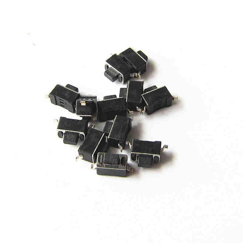 (100 unids/lote) interruptor de tacto 3*6*5 Interruptor táctil de dos pies de parche Interruptor táctil de encendido/apagado HY-3604 interruptores pequeños al por mayor 3x6x5mm interruptores negros