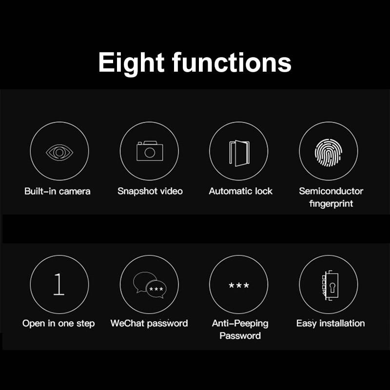 YRHAND Smart lock door wifi with camera Password Security Biometric Fingerprint Lock