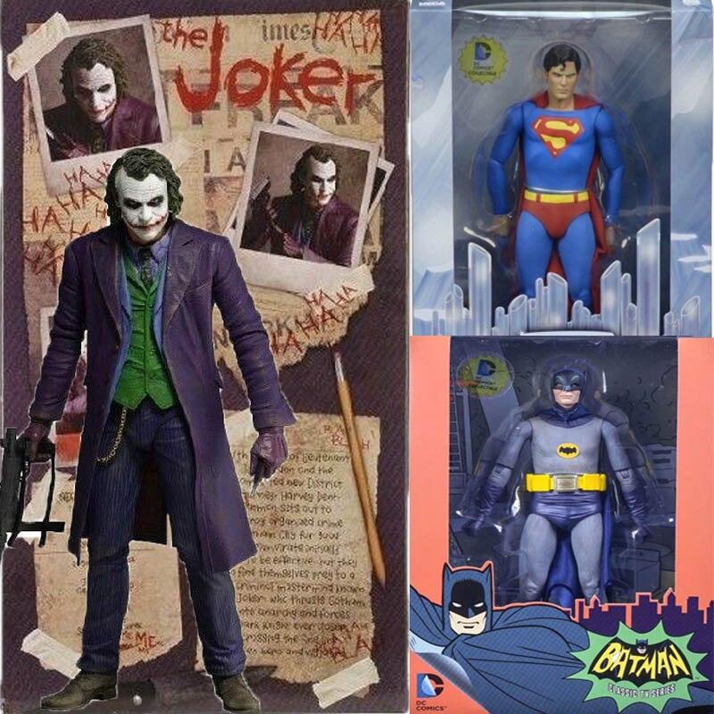 18 см DC мультфильм союз несправедливости Neca Бэтмен против Супермена Джокер Коллекционная Фигурка модель игрушки