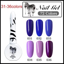 Elsa Zebra Gel Nagellak Vernissen Nodig Uv Led Lamp Pure Kleur Semi Permanente Basis Top Manicure Verf Hybrid Nagels gel Polish