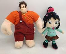 2pcs Official Ralph Plush Ralph Sugar Rush Stuffed Toy 'Kids Boys Toys for Children Gifts