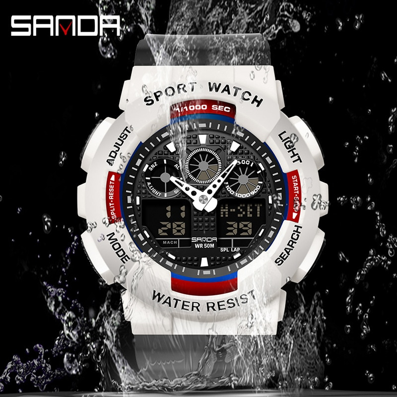Electronic watches multifunctional luminous waterproof watches outdoor leisure sports watches for boys and girls enlarge