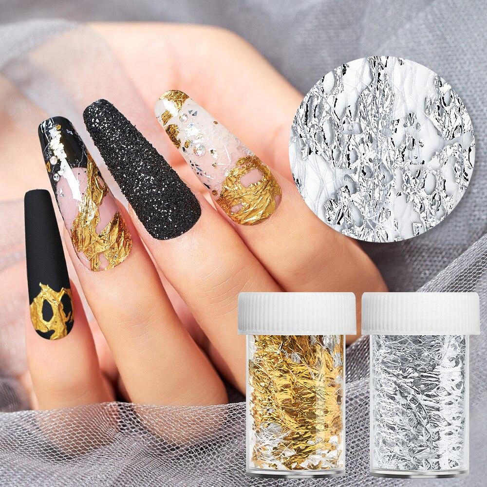50 cm Aluminum Foils 3D Mesh Gel Stickers Glitter Line Poly Nail Art Decal Wraps Slider Manicure DIY Decoration For Gel  Polish