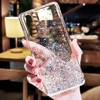 luxury glitter silicone case for honor 20 pro 10 9 lite 10i transparent back case for honor 9x 8x 9a 8a 7a shockproof fundas