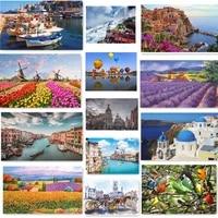 500 pieces adult puzzle landscape city oil painting animal children toy puzzle wholesale