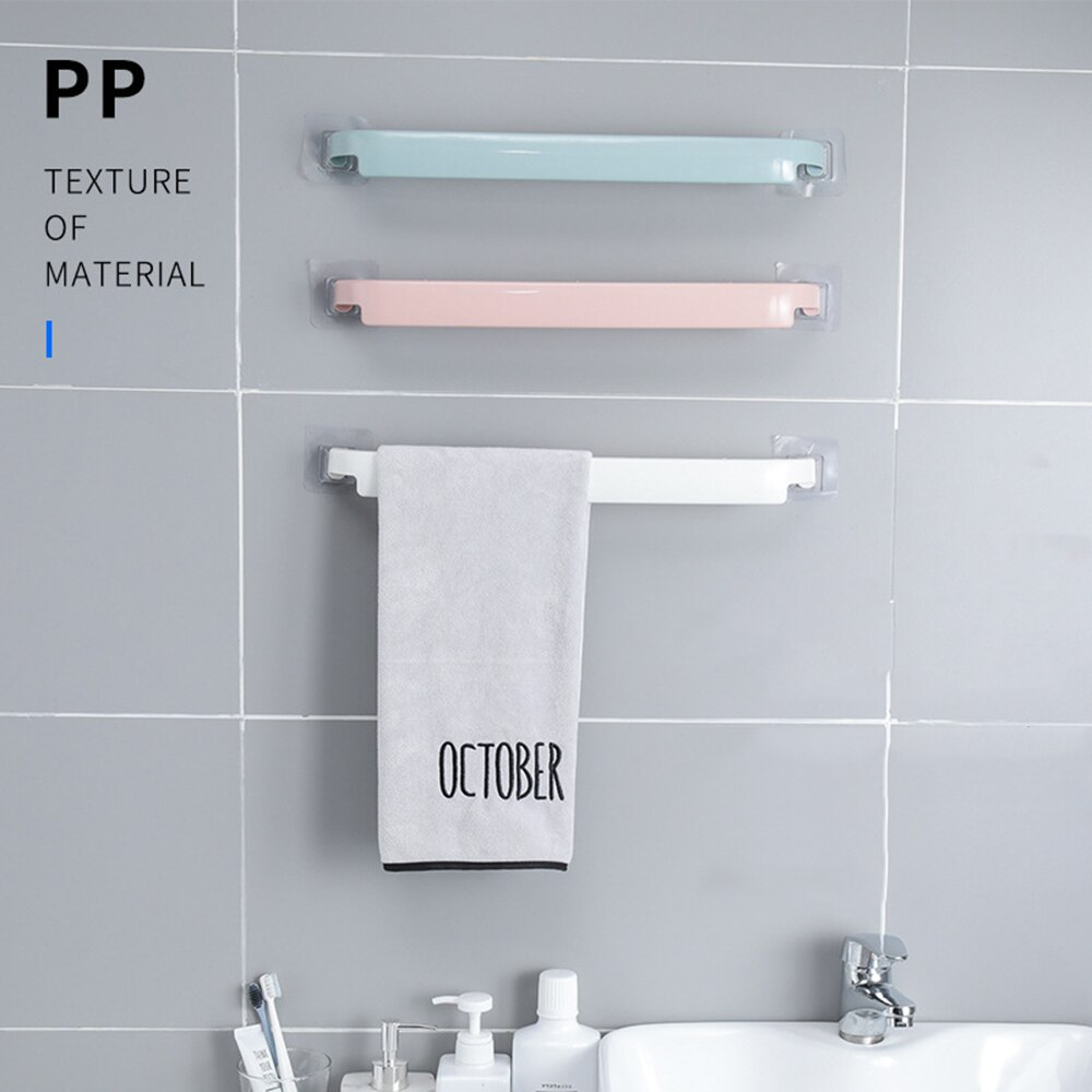 Kunststoff wand montiert bad Bar handtuch rack selbst-adhesive wc rollen halter wc hängen kleiderbügel bad versorgung
