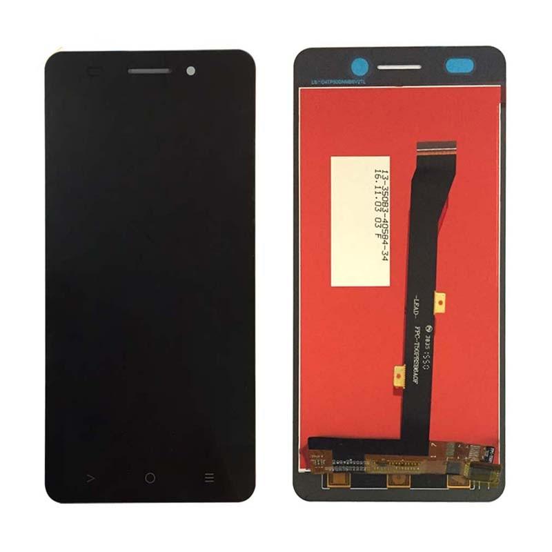 Negro para Highscreen Power Five Evo FiveEvo pantalla LCD con montaje de digitalizador con pantalla táctil repuestos