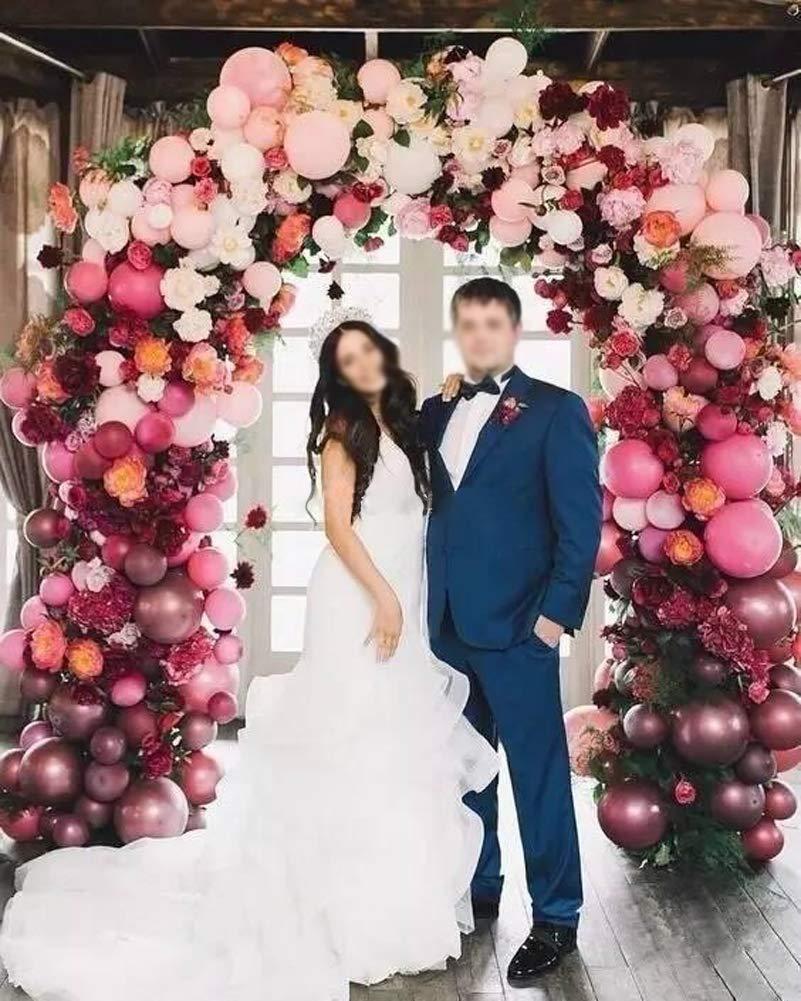 101pcs Burgundy Pink Balloon Garland Bridal Shower Balloons Arch Kit Weeding Birthday Bachelorette Engagement Party Decoration