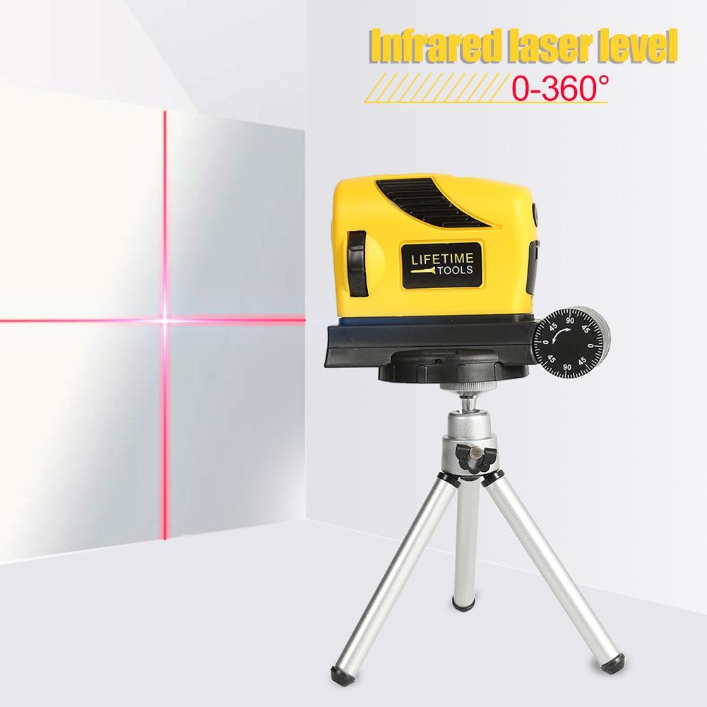 0-360 Degree Laser Level Point/Line/Cross Infrared Scriber Horizontal/Vertical Level Measuring Tool