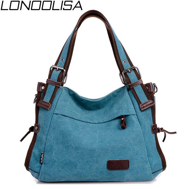 Vintage قماش المرأة حقيبة كتف عالية الجودة حقائب كروسبودي للنساء سعة كبيرة السيدات السفر حقائب اليد رسول عادية