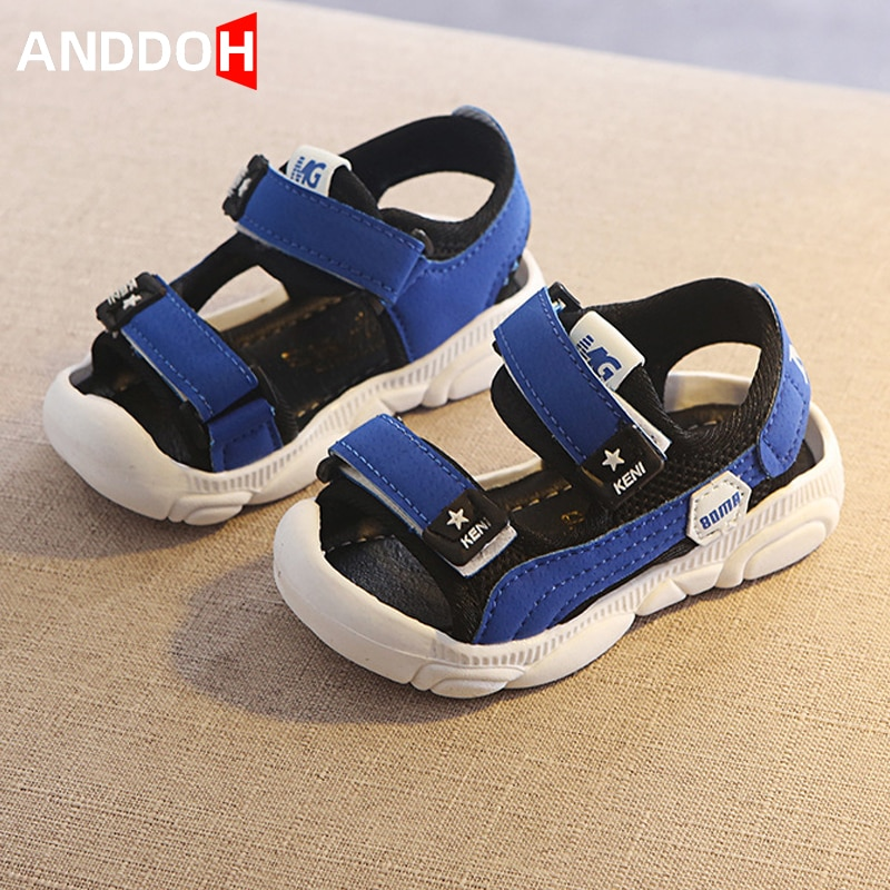 Size 21-30 Baby Soft Bottom Casual Sandals Children Breathable Shoes Boys Anti-slippery Shoes Girls Baotou Kick-proof Sandals