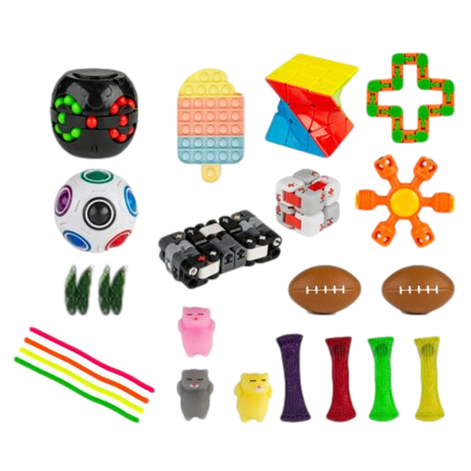 Fidget Toys 21/24pcs Pack Sensory Toy Set Antistress Relief Autism Anxiety Anti Stress Bubble For Kids Adults Kids Toys