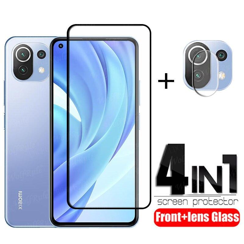 Volle Abdeckung Glas Für Xiaomi Mi 11 Lite Glas Für Mi 11 Lite Schutz Glas HD Film Screen Protector Für mi 11 Lite Objektiv Glas