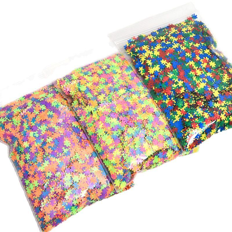50g Puzzle Pieces, Glitter Shapes, Puzzle Shaped Glitter Glitter sequins spangles nail art glitter shapes