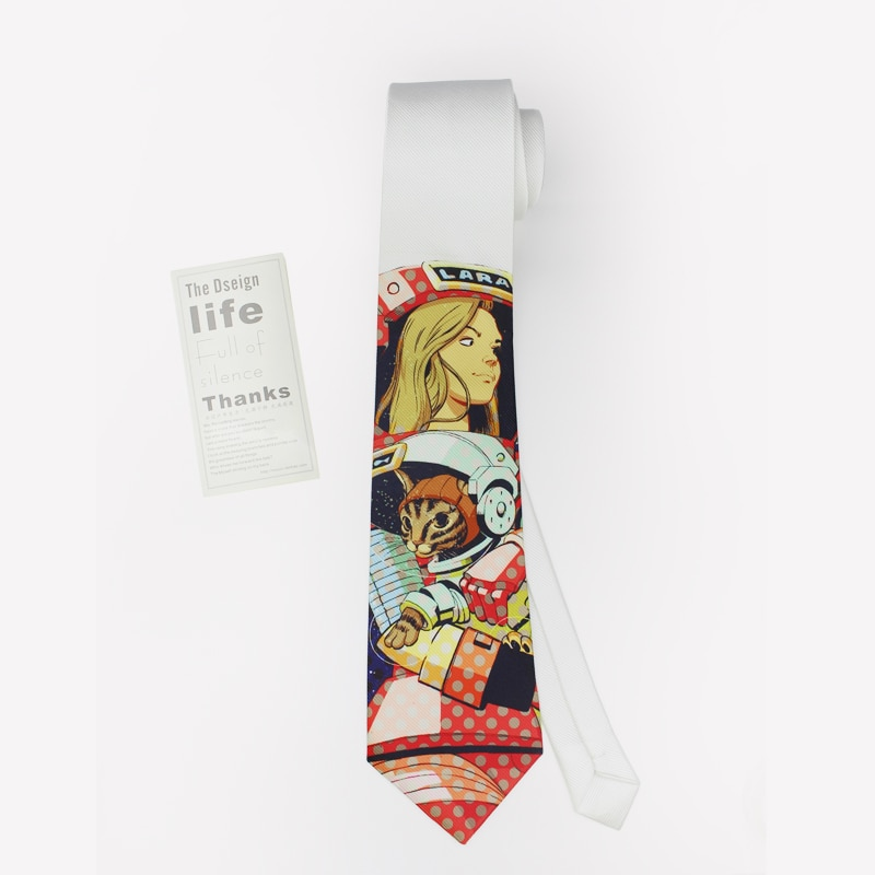Men Tie With Animal Printed Original Designer Neck Ties With Gift Box Packed  For Groom High Quality Cotton Casual Necktie Brand