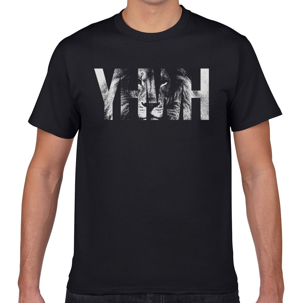Camisetas para hombre yhwh lion Kawaii, camisetas para hombre con inscripción Geek personalizada XXXL