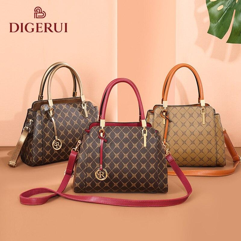 2020 new women's handbag link soft put fashion luxury print one-shoulder stiletto bag designer bag luxury brand handbags