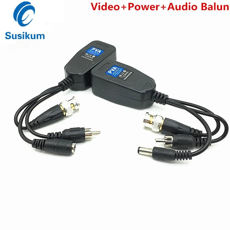 8 Мп RJ45 CCTV Video Balun HD коаксиальный BNC витая пара видео + питание + аудио 3 в 1 передатчик для 4K TVI / CVI / AHD камеры