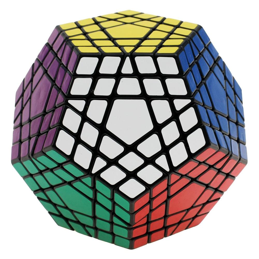 Shengshou Wumofang-مكعب سحري ، 5x5x5 ، Shengshou ، Gigaminx 5x5 ، مكعب Dodecahedron احترافي ، لعبة تعليمية