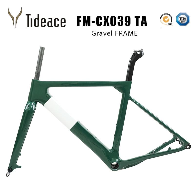 Tideace Post mount Аэро гравий рама для велосипеда S/M/L диск для велосипеда углеродный гравий рама QR или через ось