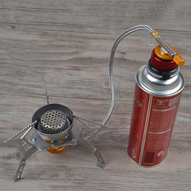 Camping estufa adaptador para quemador de estufa de Camping conversión válvula para exteriores conectores adaptador de Gas PXPF
