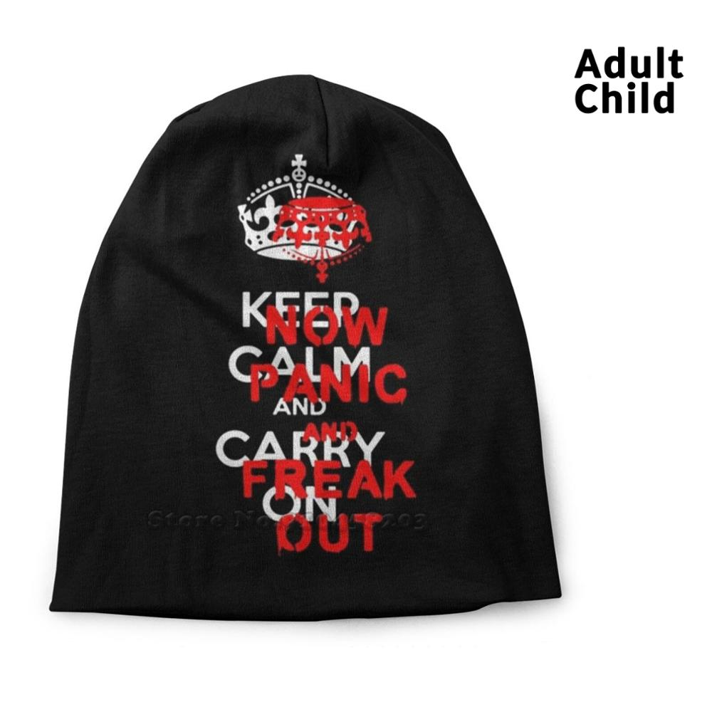 Brexit ''keep Calm And Carry On'' Now Panic And Freak Out! Hip Hop Head Caps Beanies Beanie Hats Brexit Keep Calm And Carry On
