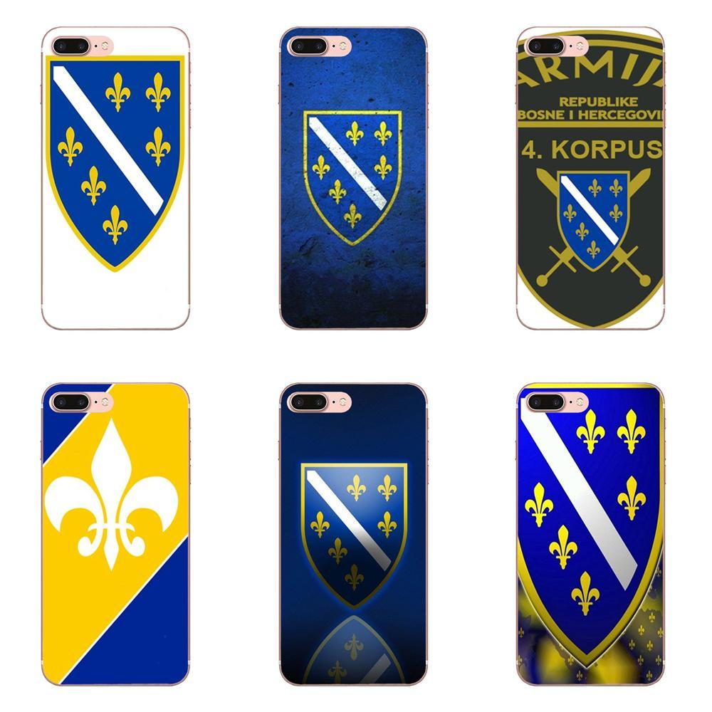 Suave TPU Coque Bandera de Bosnia y Herzegovina para Huawei Honor 4C 5A 5C 5X6 6A 6X7 7A 7C 7X8 8C 8 9 10 10i 20 20i Lite Pro