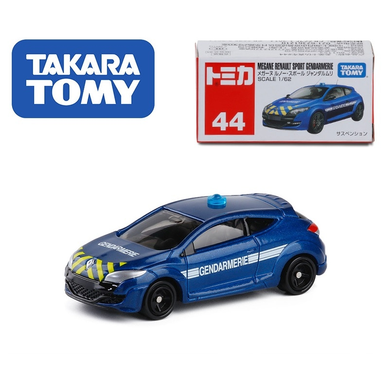 Takara-tomy 1 62 Megane Renault Gendarmería deportiva Azul #44 modelo de coches de juguete para niños
