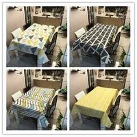 waterproof tablecloth geometric striped printed table cloth household table cloth mantel mesa impermeable wedding decoration