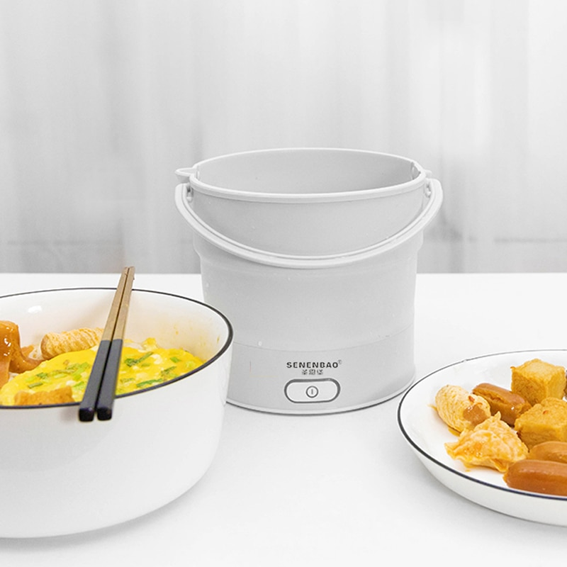 Travel portable pot office electric boiling pot 110v travel folding dual voltage multifunctional sma