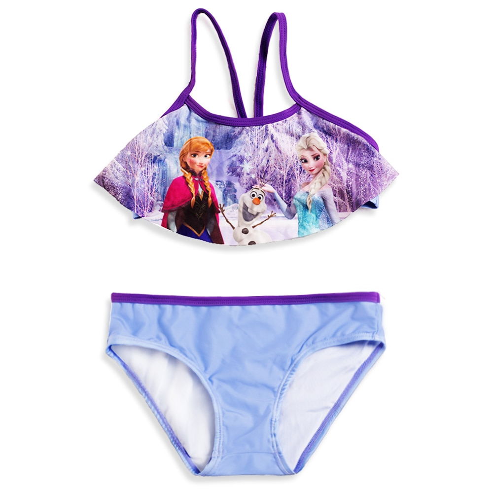 Princess Girls Swimsuits Split Biquini Infantil Beach Swimming Suits Children Swimsuits Uv-proof Bikini Girls G47-K562
