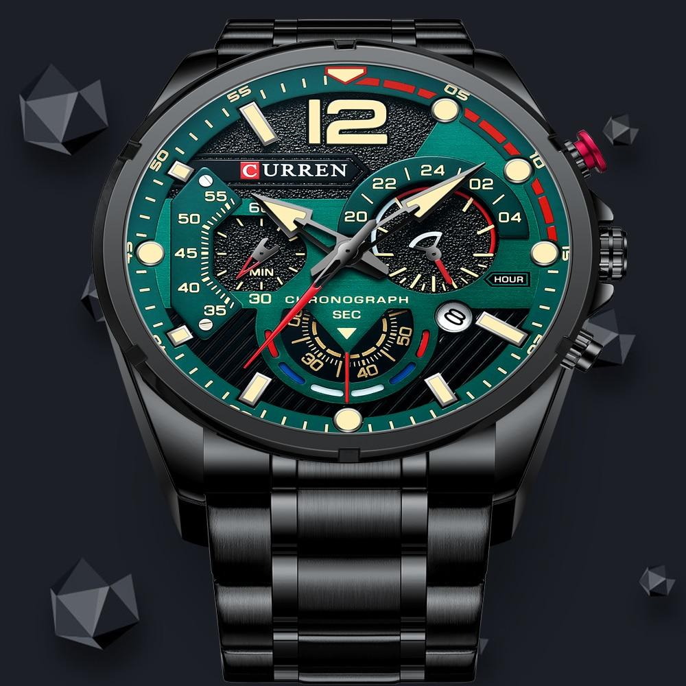 curren-watches-men's-sport-quartz-chronograph-wristwatches-luxury-stainless-steel-clock-with-luminous-watch-relogio-masculino