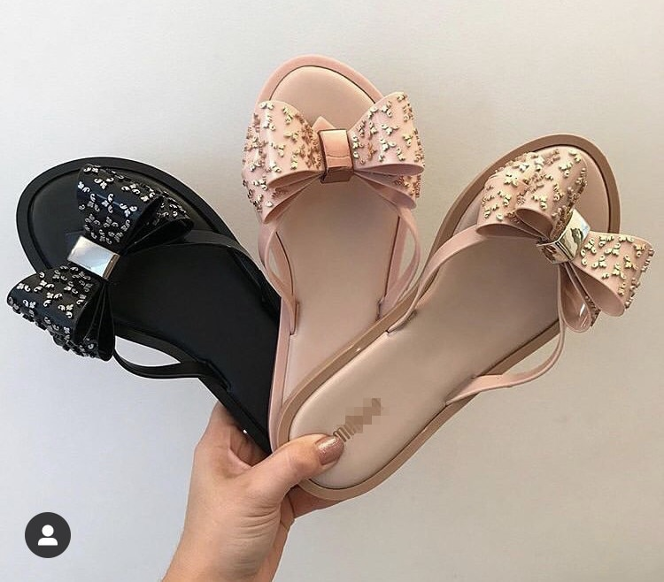 Sandalias Melissa Bow Pantufla de goma para mujer, moda 2020, zapatos de jalea para mujer, chanclas Melissa Adulto, zapatillas para mujer