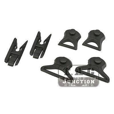 Emerson nvg cinta giratória clipe substituição fivela trilho adaptador conjunto para ach rápido colisão capacete arco trilhos acessórios 36mm & 19mm