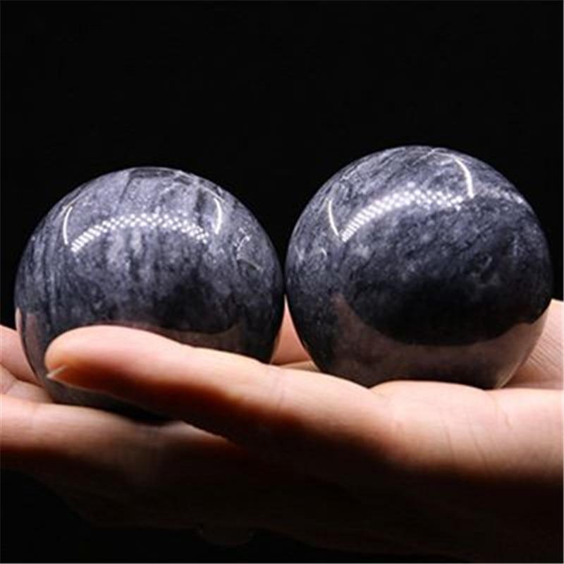 Натуральные нефритовые шарики 50 мм Baoding, твердый фитнес-браслет, гандбол, здоровье, упражнения, стресс, расслабляющая терапия, хромированный...