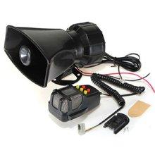 Tone Sound Car Emergency Siren Car Siren Horn Mic PA Speaker System Emergency Amplifier Hooter 12V 100W