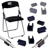 4pcs/lot Plastic Office chair leg pads Covers Bumper Damper stool foot Anti-front tilting u-type tube mat 22mm steel pipe clamp