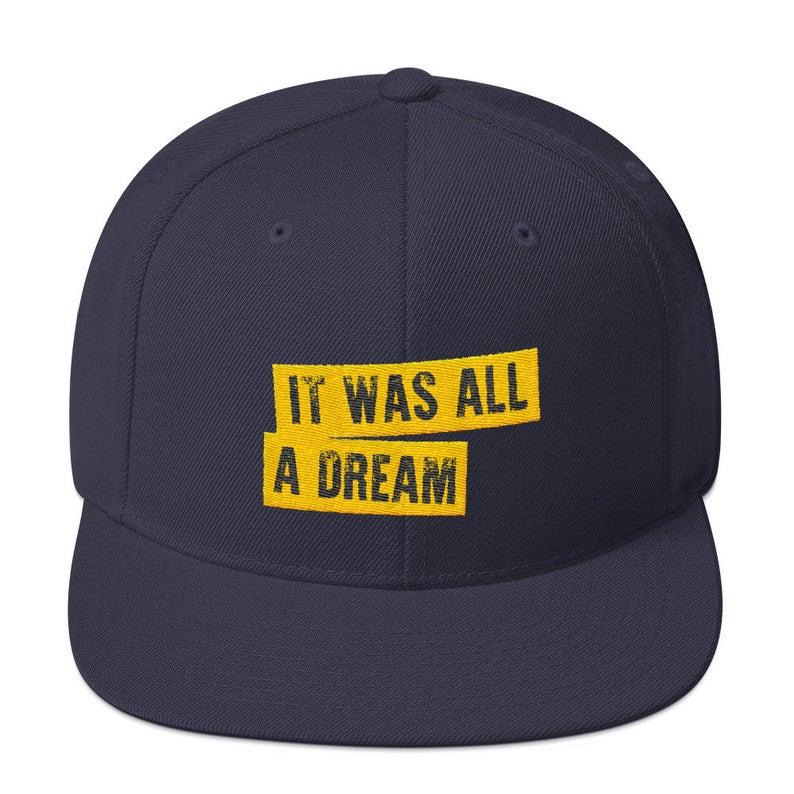 Gorras de béisbol con letras bordadas era todo un sueño hip hop unisex ajustable snapback sombreros de algodón mujeres hombres dropshipping