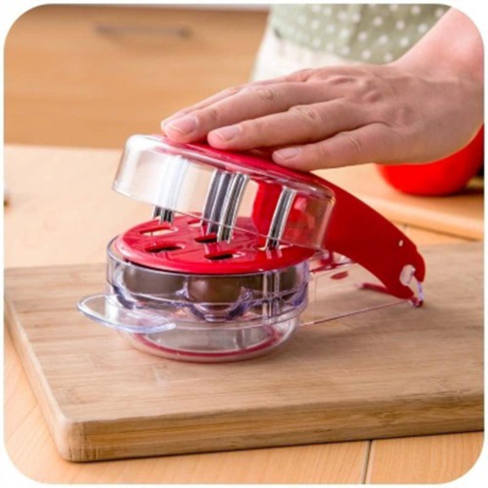 Deshuesador de aceitunas de cereza, removedor de piedra de semilla de cereza, eliminación de huesos 6, cerezas enuclear rápido, dispositivo de cocina de hueso para fruta