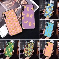fruit banana pattern phone case for huawei honor 7a 8x 8s 9 9x 10 10i 20 30 play lite pro s fundas cover