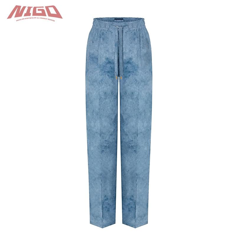 NIGO L 21ss Women's Silk Trousers Pants Code@L21