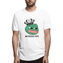 T-Shirts Notorious Pepe Frog T Shirt O-Neck Short Funny Mens Tshirt Men Creative Pattern 100% cotton urban style T-shirt top
