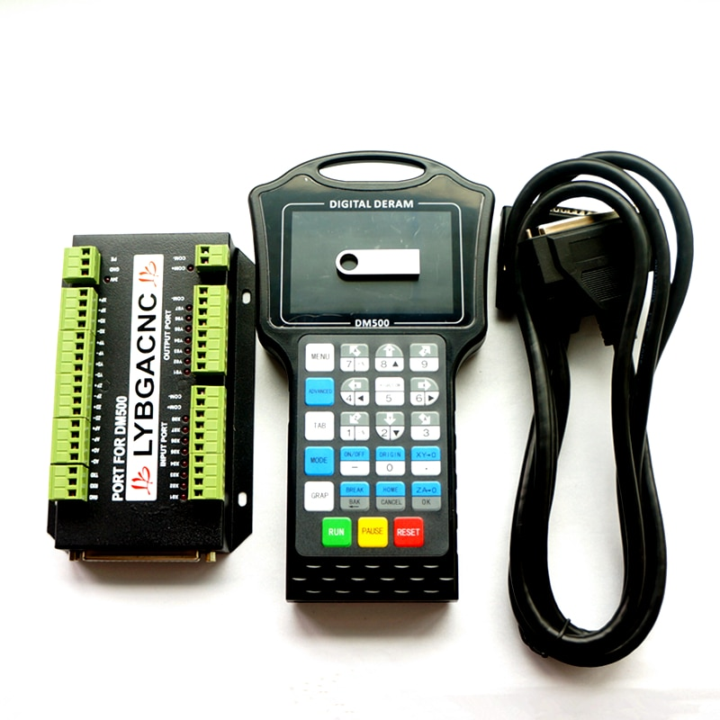 DM500 500 كيلو هرتز 3 4 محاور DSP وحدة تحكم يدوية CNC ، نظام التحكم في الحركة دون اتصال بالإنترنت ، رمز G