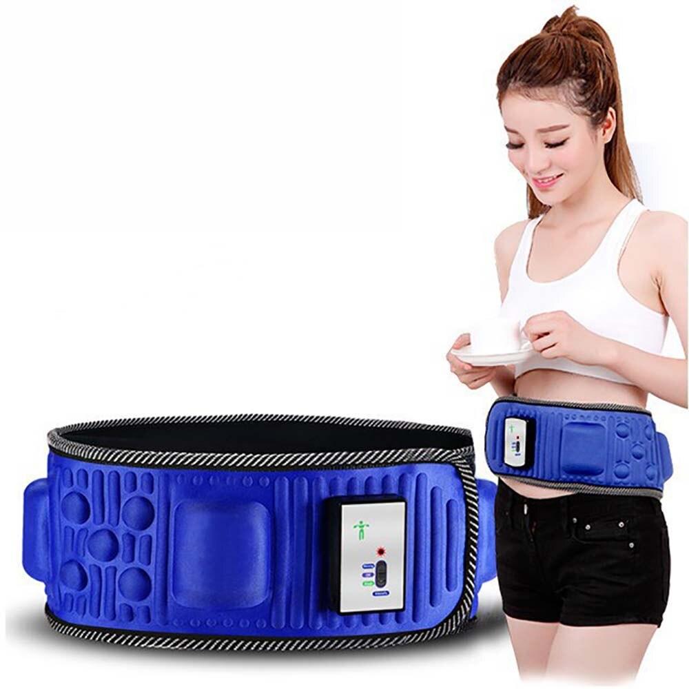 Elétrica Emagrecimento Cinto Perder Peso Fitness Massagem x5 Vezes Balançar Vibração Abdominal Barriga Muscular Cintura Trainer Estimulador