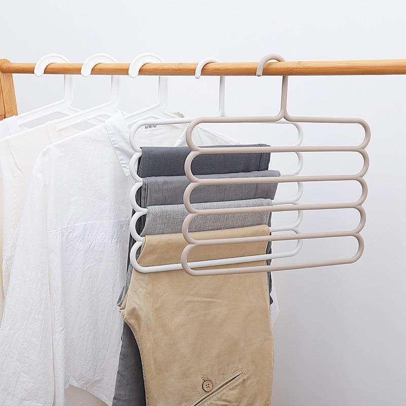 Multi-camada calças rack de armazenamento cabides cinto de gravata cachecol rack branco casaco de secagem rack de armazenamento guarda-roupa toalha de plástico expositor cabide