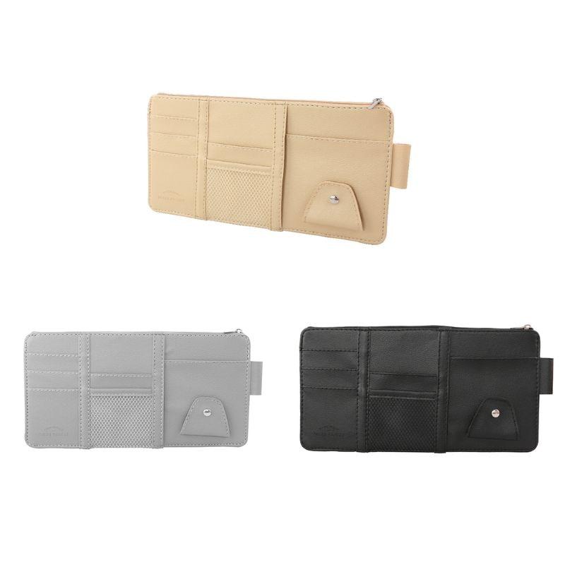 Car Sun Visor Storage Set Car Business Card Multi-function Holder Storage Bag