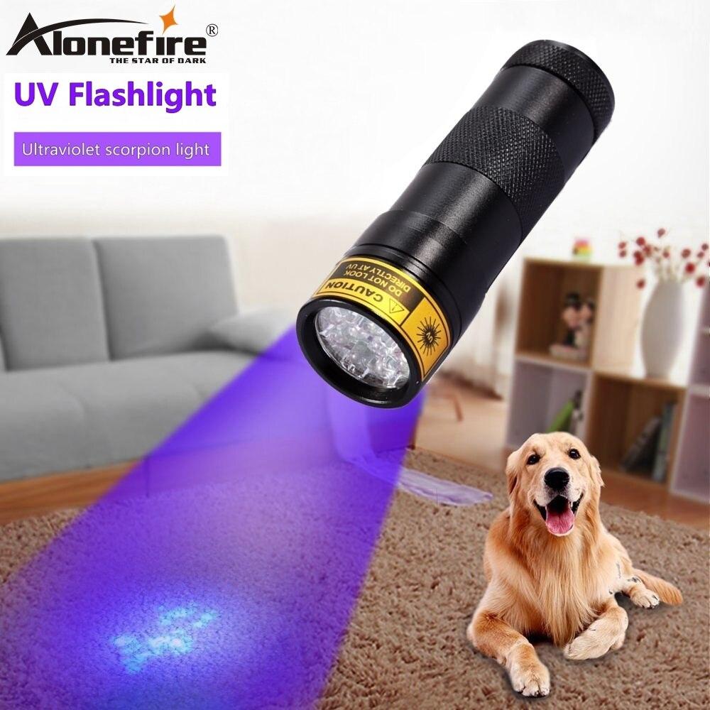 ALONEFIRE 12 Led 395nm ультра фиолетовый флэш-светильник для кошек и собак, для домашних животных, мочи, денег, отель, УФ-детектор, мини-светильник, лам...